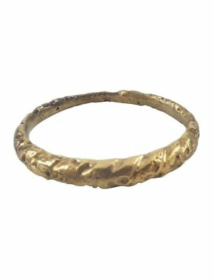 ANCIENT VIKING WEDDING BAND C. 900 AD Size 9 3/4 (19.3mm). Jewelry Ring