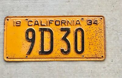 1934 California License Plate Nice Shape