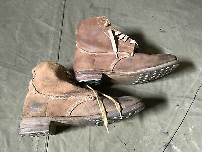 43N Wwi Us M1917 Trench Boots- Size 13