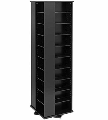 DVD STORAGE Rack Organizer Cabinet CD Large Wall Tower Shelf 4  Sided  Spinning