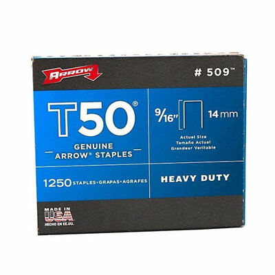 Arrow Fastener 509 Genuine T50, 9/16 - Inch Staples