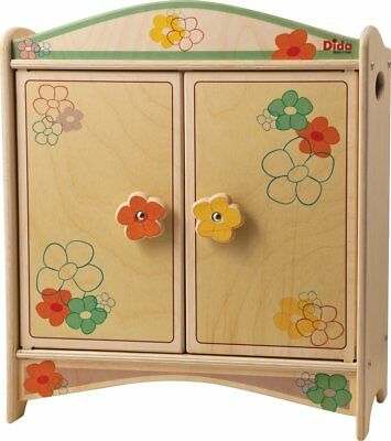 DIDA Locker of wooden dolls with hangers - decoration: Flower