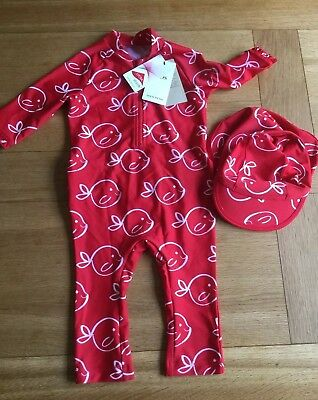 Sunsuit age 4-5 BNWT Marks & Spencer's with hat