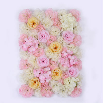 5x Rose Hydrangea Flower Wall Wedding Backdrop Party Venue Decoration 40 x 60cm