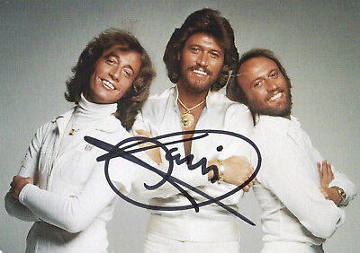 Barry Gibb · Bee Gees · Autogramm