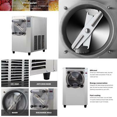 Commercial Hard Ice Cream Machine 15-22L/H 304 Stainless Steel Maker 1400W