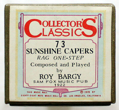 "ROY BARGY ""Sunshine Capers"" COLLECTORS CLASSICS 73 [PIANO ROLL]"