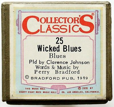 """CLARENCE JOHNSON """"Wicked Blues"""" COLLECTORS CLASSICS 25 [PIANO ROLL]"""