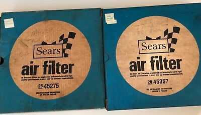 Two Vintage 1970's Sears Robuck & Co auto air filters