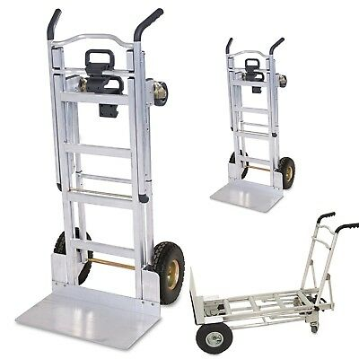 3 in 1 Convertible Truck 1000lb Cap Aluminum Hand Trolley Loader Cart Dolly New