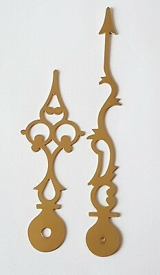 Polished Brass Clock Hands  152mm Minute 108mm Hour Longcase