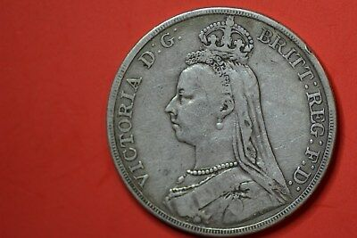 United Kingdom Victoria crown 1889 F. 33mm;27.9gr. .925 silver