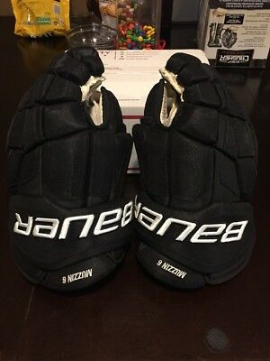 "Bauer Pro Stock Game Used 14""-15"" Hockey Gloves Jake Muzzin LA Kings Easton"