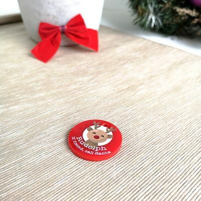 Pack of 5 Colour Printed Rudolph Tags