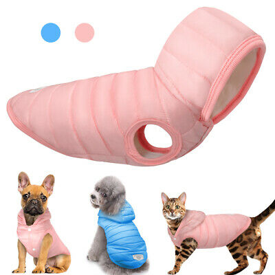 Winter Warm Dog Coat Jacket Chihuahua Clothes Pet Puppy Cat Hoodie Outfit XS-XL
