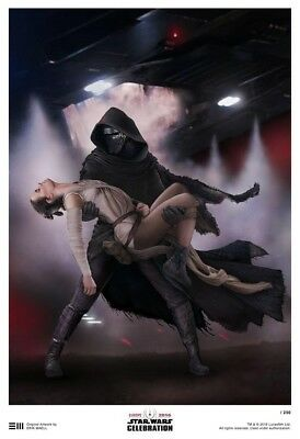 Star Wars Celebration Europe Art Print by Erik Maell - Kylo Ren Abduction of Rey