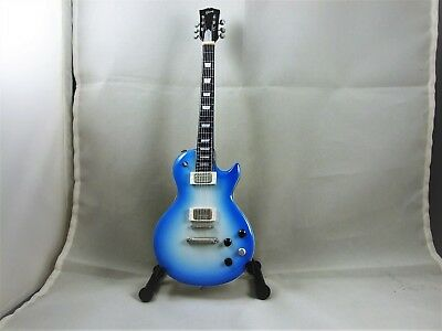 Gibson Robot Blue 10 Inch Mini Replica Guitar New In Box With Stand
