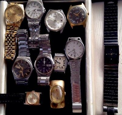 •JOB Lot of 11 VINTAGE Watches.. Spares/Repair.(REDUCED PRICE)•