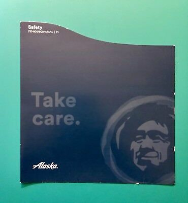 Alaska Airlines Safety Card--737-800/900 With Rafts