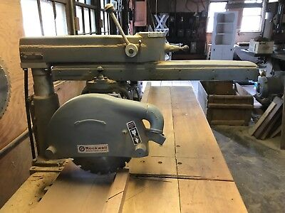 """Delta Rockwell 14"""" Radial Arm Saw w/ Stand 3-Phase 220/440V"""