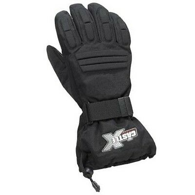 CASTLE X MENS BLACK PLATFORM INSULATED WARM SNOWMOBILE RIDING GLOVES -Small- NEW