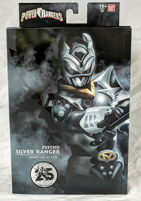 "Power Rangers Legacy Silver Psycho Ranger 6"" Action Figure SDCC 2018 Exclusive"