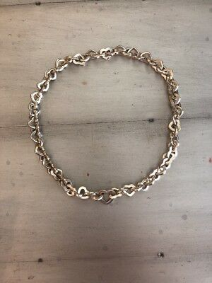 Tiffany & Co Heart Link Necklace .925 Sterling Silver Jewelry Auction Deal Sale