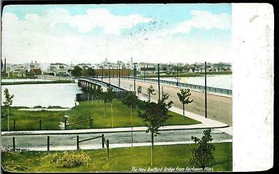 Vintage Postcard of the New Bedford Bridge from Fairhaven, Massachusetts MA 1905