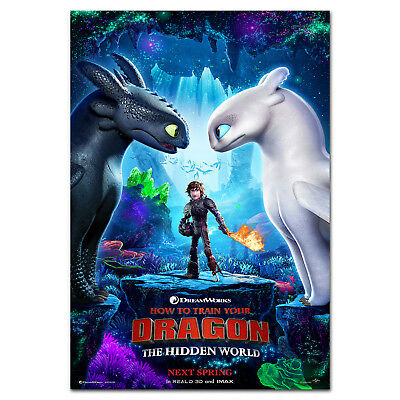 How to Train Your Dragon 3: The Hidden World Movie Poster - High Quality Prints