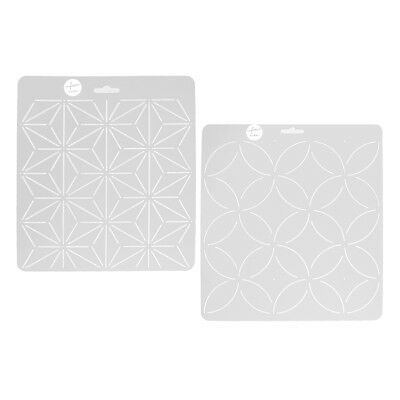 5pcs Handmade Round Acrylic Quilting Templates Patchwork Quilter Supplies