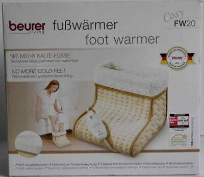 Beurer Living Cosy Fw20 Fleece Electric Foot Warmer 3 Settings (Cosy Feet) *new*