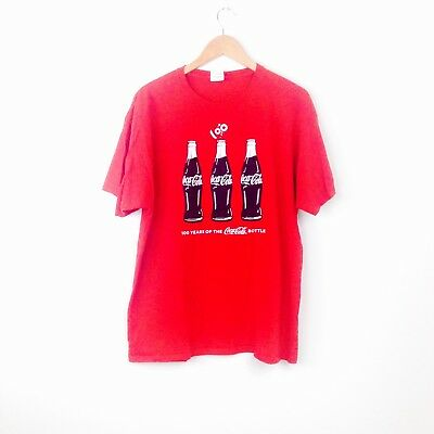Coca-Cola 100 years of coke anniversary couture bottle t-shirt red XL mens T10