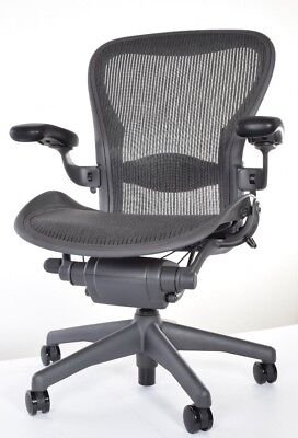 herman miller aeron chair size b fully adjustable in excellent condition - Herman Miller Aeron Chair