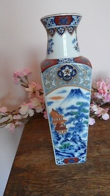 Chinese Oriental Chinoiserie Tozan Porcelain Decorated Vase  Exc. Cond