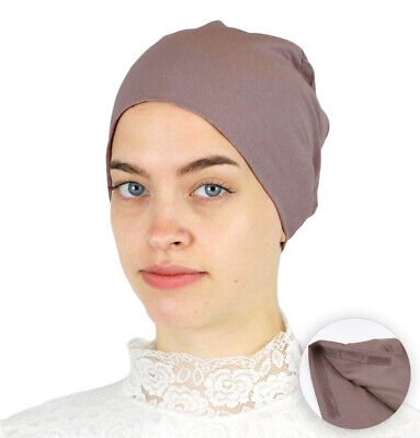 Muslim Women's Islamic Turkish Cap Modefa Non-Slip Cotton Bonnet - Mink