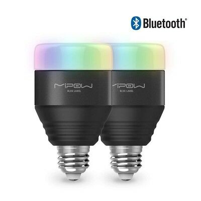 Bluetooth Smart LED Light Bulbs, Dimmable Multicolored-Adjustable by App, 2 pack