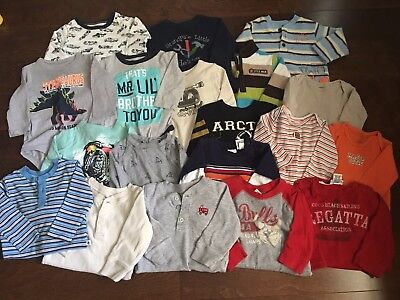 12 month boy clothes lot. Oshkosh Carter's Jumping Beans (19 Items)