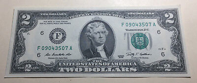 United States 2009 Two Dollars Note - Serial # F09043507A
