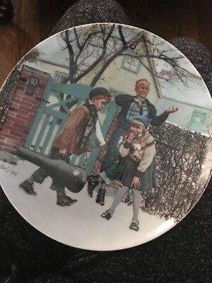 Kunstens Trange Vej 1984 by Kurt Ard Bing & Grondahl Collectors Plate 8 1/4""