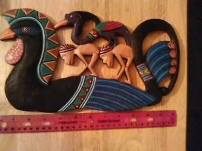 African Art Wood Wall Hanging