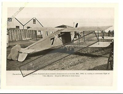 Avro Enclosed Cabin Biplane Of 1912 Vintage Photo