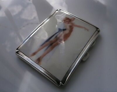 Superb Solid Silver Art Deco Case 1939