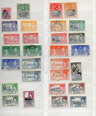 ST HELENA QV to QEII 42 DIFFERENT MINT HINGED / USED STAMPS