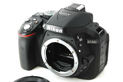 Nikon D5300 24.2MP digital SLR camera body set *black *pristine