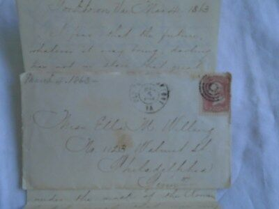 CIVIL WAR LETTER  FROM A CAPTAIN OF THE UNION ARMY DATED MARCH 4th 1863.