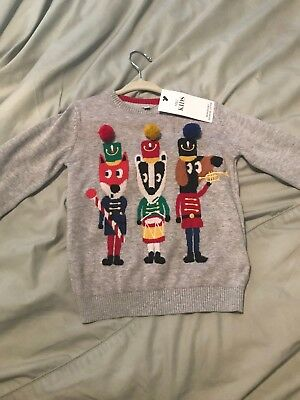 New Marks And Spencer Christmas Sweater Jumper Age 18-24 Months Baby Boys