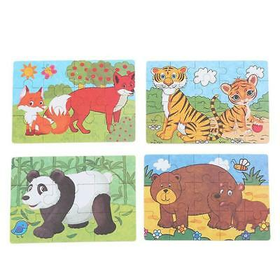 Zoo Animals Wooden Jigsaw Children Kids Baby Learning Educational Puzzle Toy LH