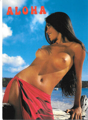 Hawaii Postcard: Topless Girls Of The South Seas, Hi Photo By T. Sylvain