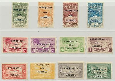 Andorra Spanish Admin Never Issued Airmal MLH Complete  FRANQUICIA DEL CONSELL
