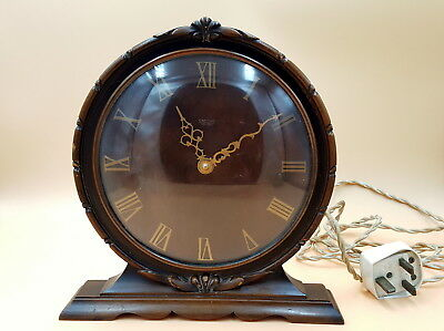 Art Deco Smith Sectric electric clock with walnut wooden case